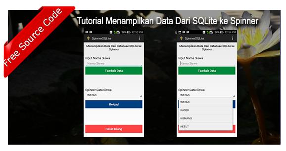 Tutorial Load Data SQLite ke SpinnerAndroid