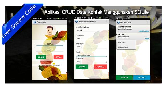 Aplikasi CRUD Data Kontak MenggunakanSQLite